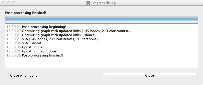 Post-processing progress