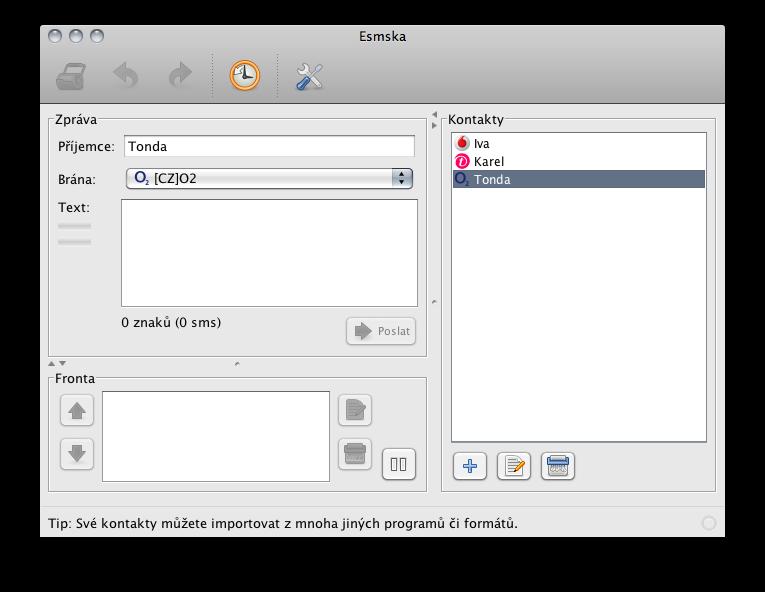Esmska for Mac full screenshot