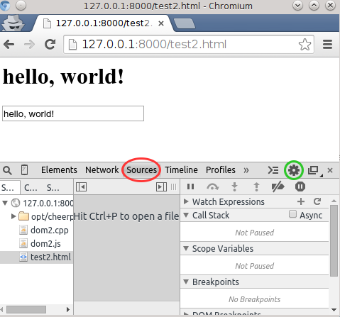 In browser debugging with Source Maps · leaningtech/cheerp-meta Wiki on
