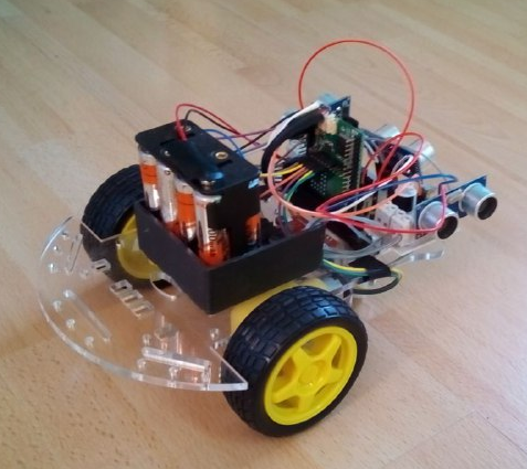 RoboThree: real robot with Espruino microcontroller