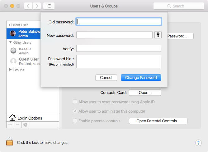 os password method