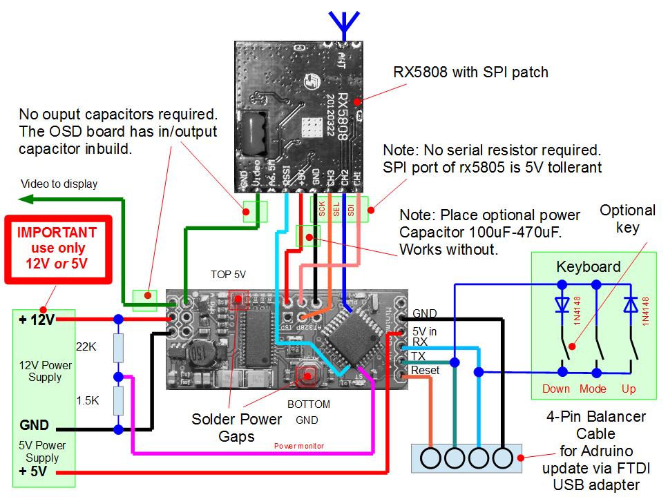 Wireing Diagram  U00b7 Markohoepken  Rx5808 Pro Osd Wiki  U00b7 Github