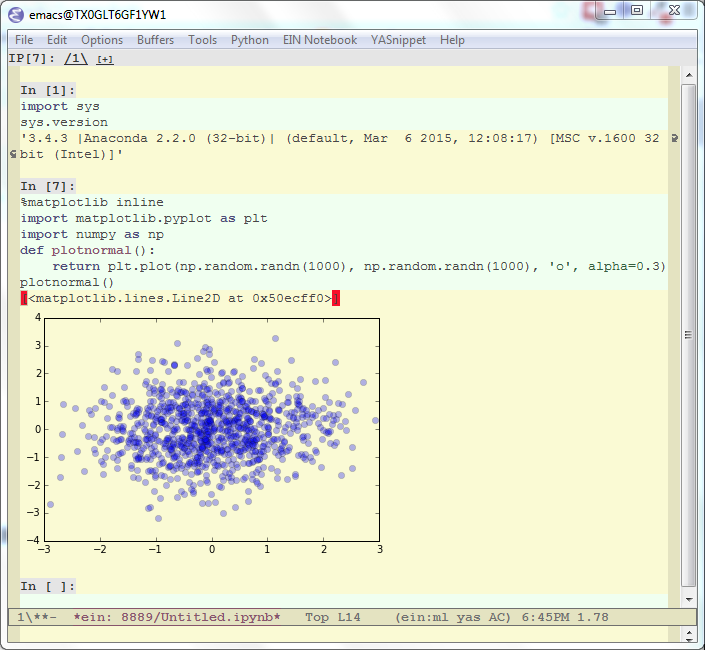 Plotting in Emacs IPython Notebook
