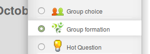 Choose Moodle activity