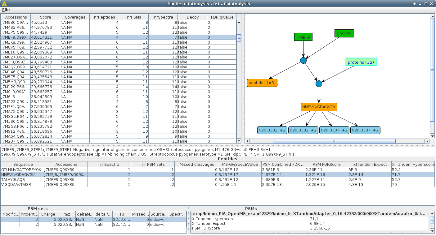 The PIA Analysis Viewer in KNIME
