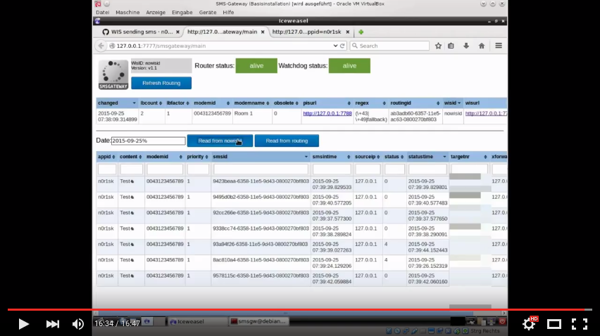 SMS Gateway screencast