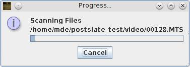 Scanning progress