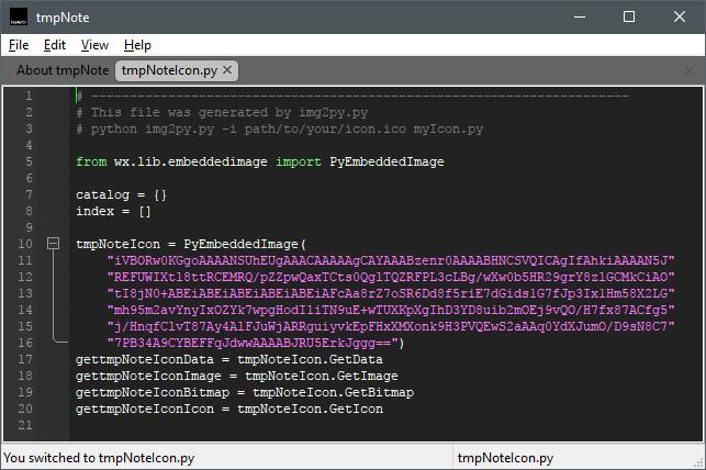 Screenshot of Python syntax highlighting