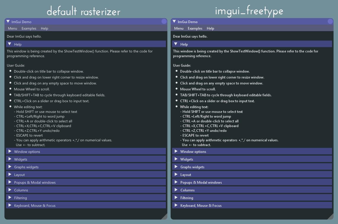 freetype rasterizer
