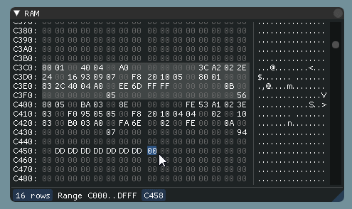 memory editor
