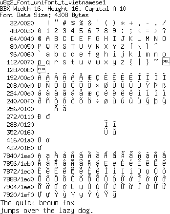 Support for new unicode lookup table (was: Missing Unicode