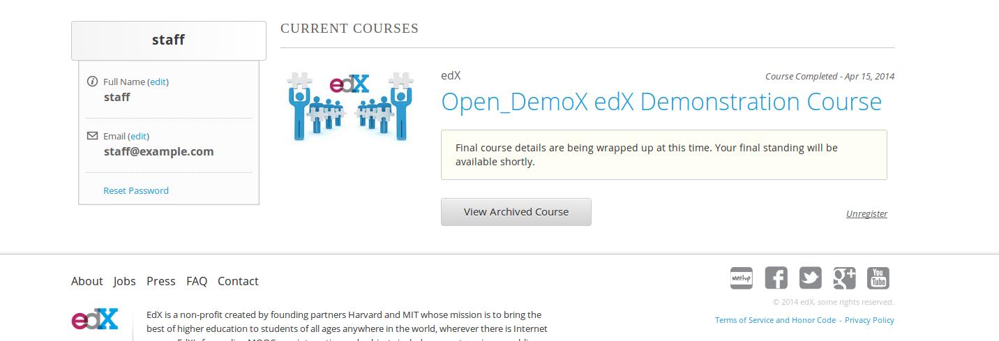 final course details