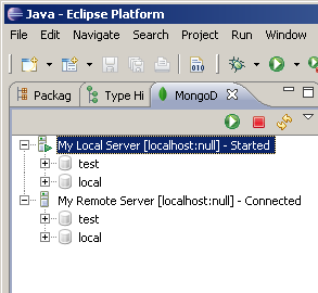 MongoDB Explorer View