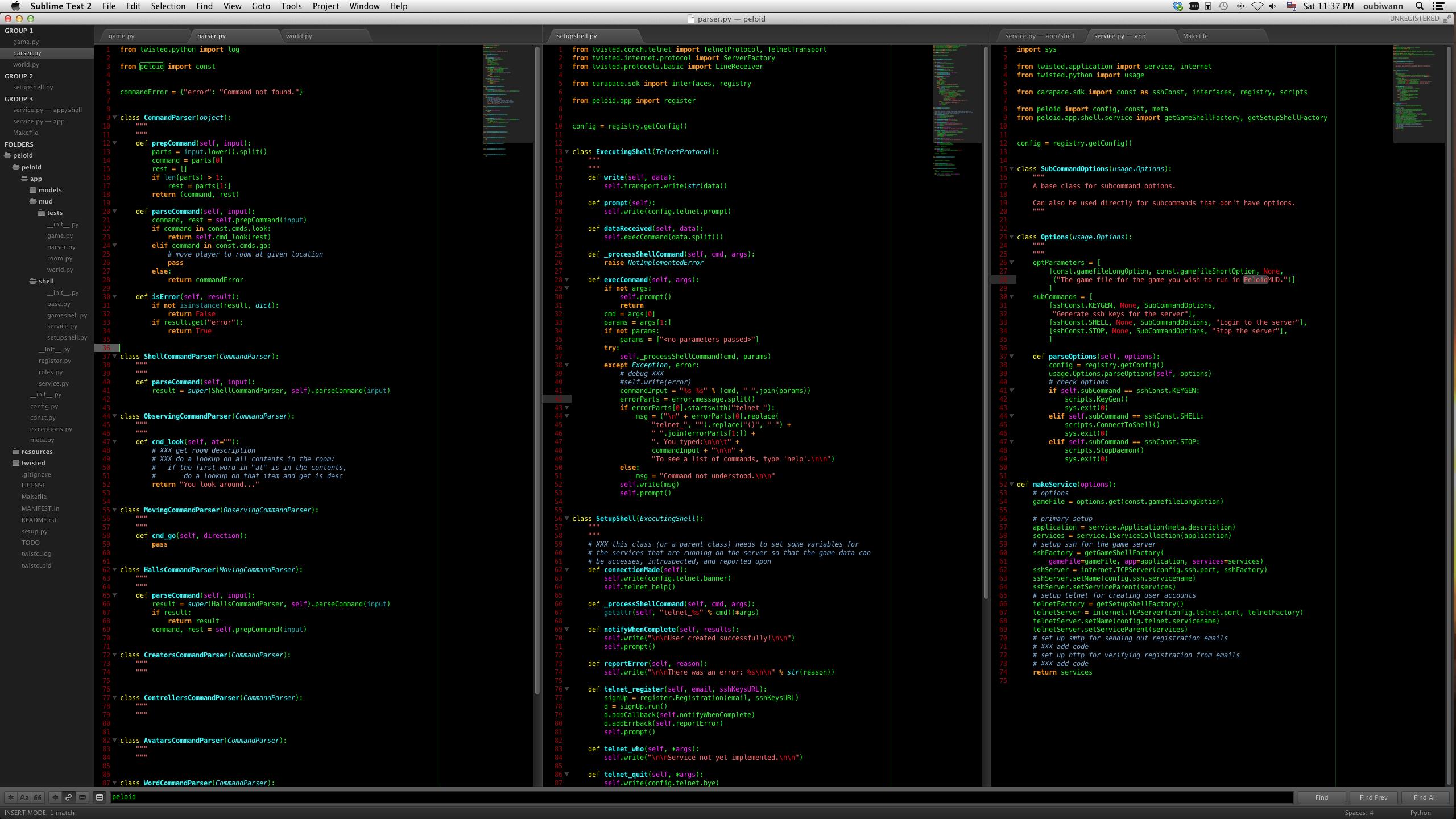 Theme - Vim Blackboard - Packages - Package Control