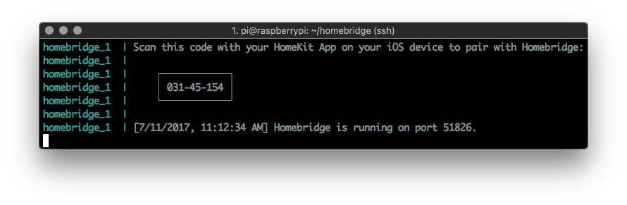 View oznu/homebridge logs