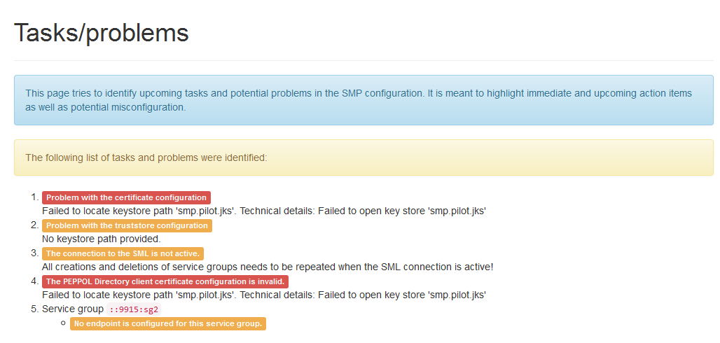 SMP tasks and problems