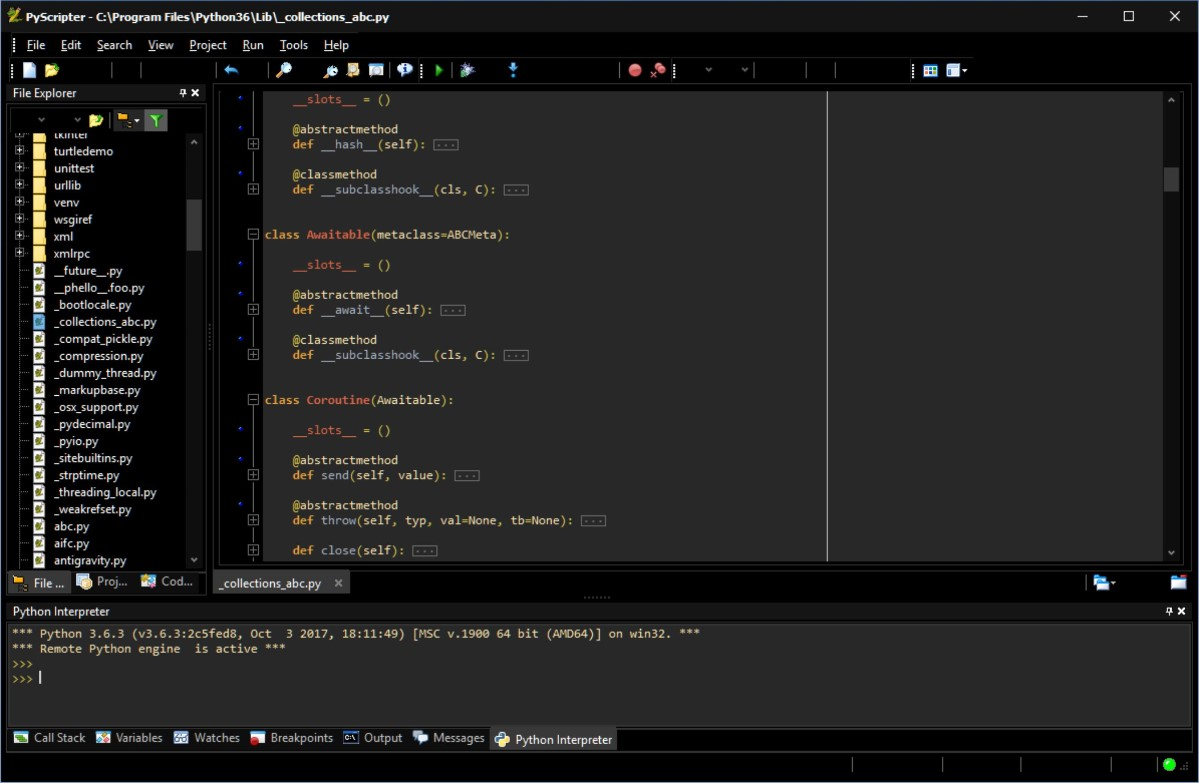 Pyscripter is a feature-rich but lightweight Python IDE