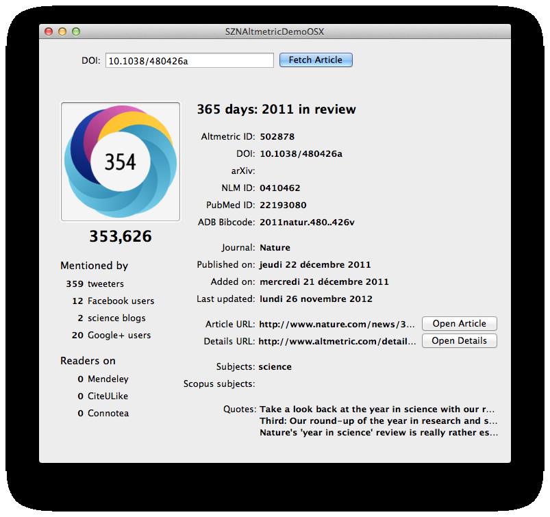OS X demo app