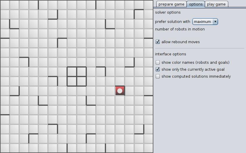 Screenshot of Options page