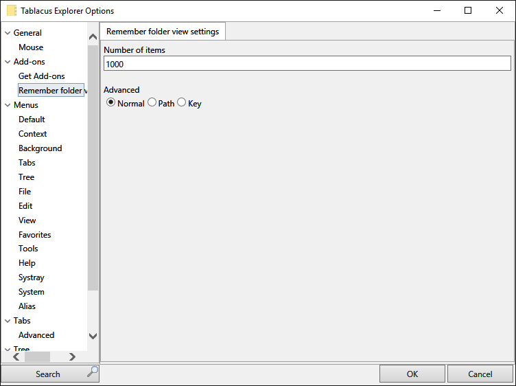 Remember folder view settings