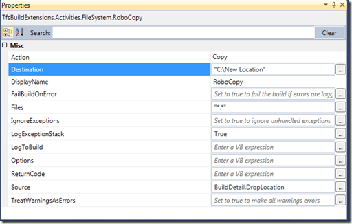 Getting started with the RoboCopy activity