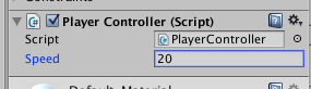 PlayerControllerコンポーネント