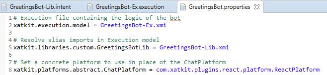 Greetings Bot Properties File