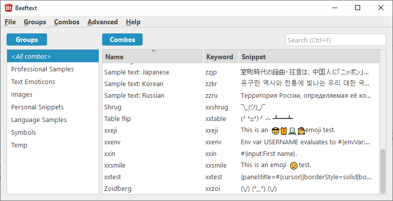 GitHub - xmichelo/Beeftext: A text snippet tool for Windows