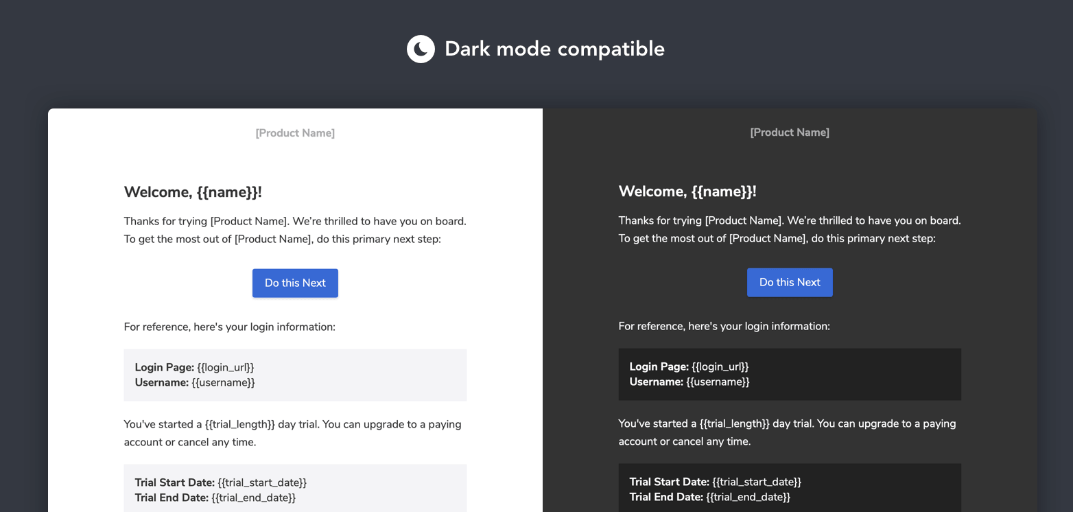 Dark mode compatibility