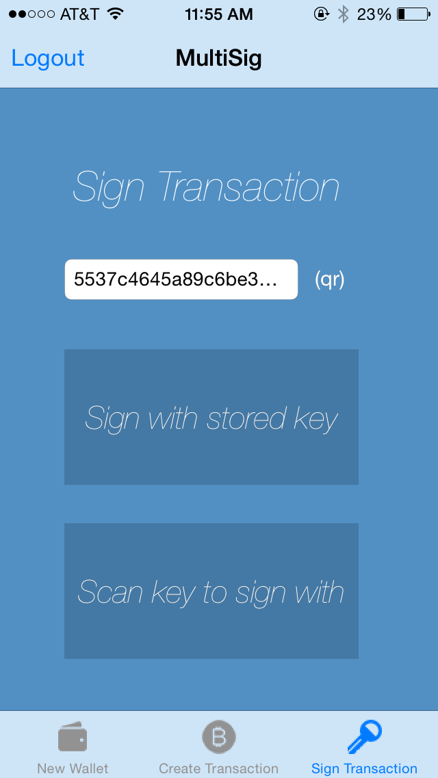 Sign Transaction