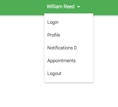 user menu