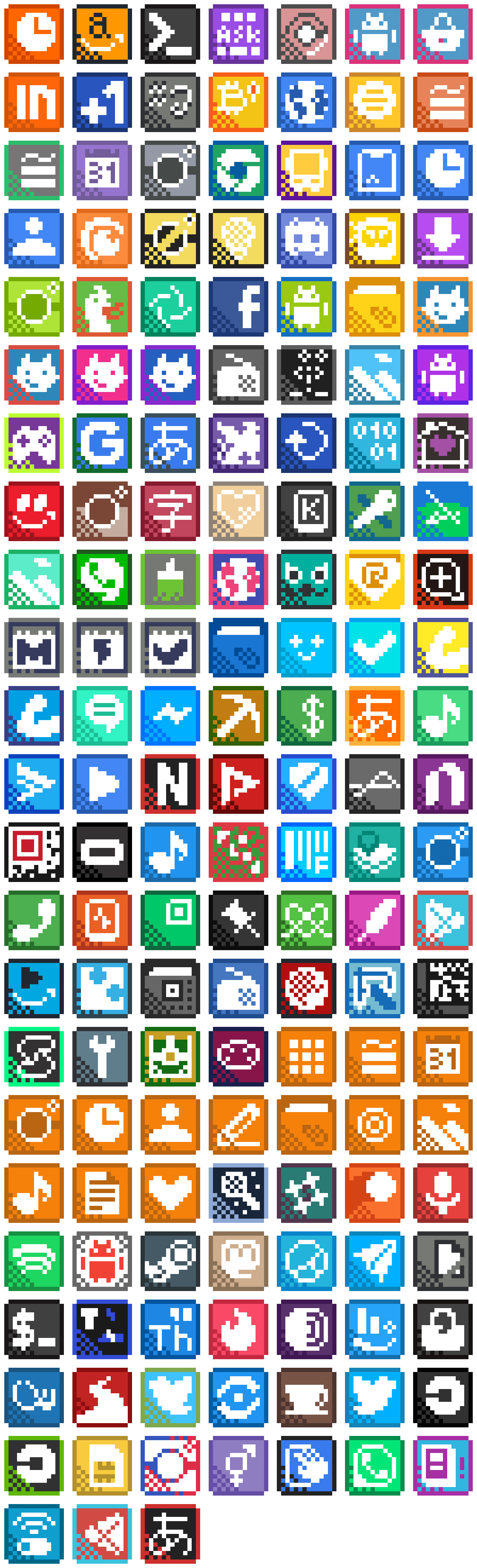 All icons upscale