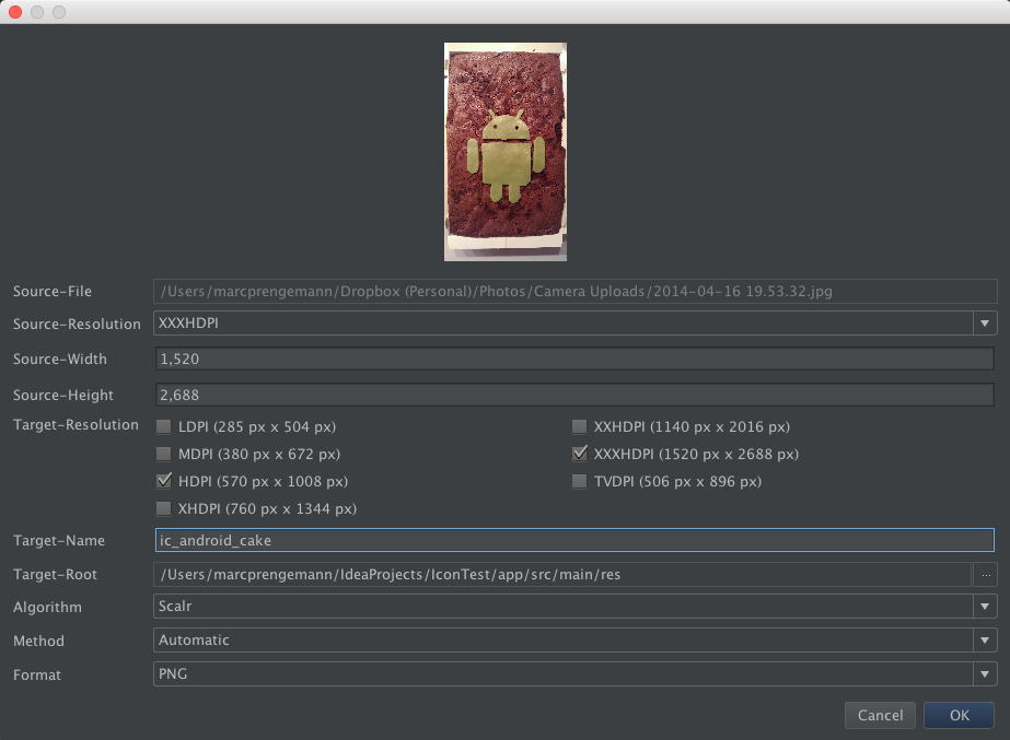 how to create drawable-xhdpi in resource android