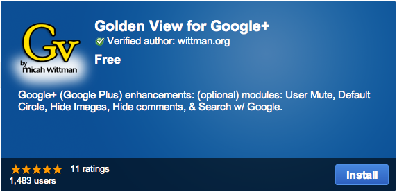 Golden View for Google+