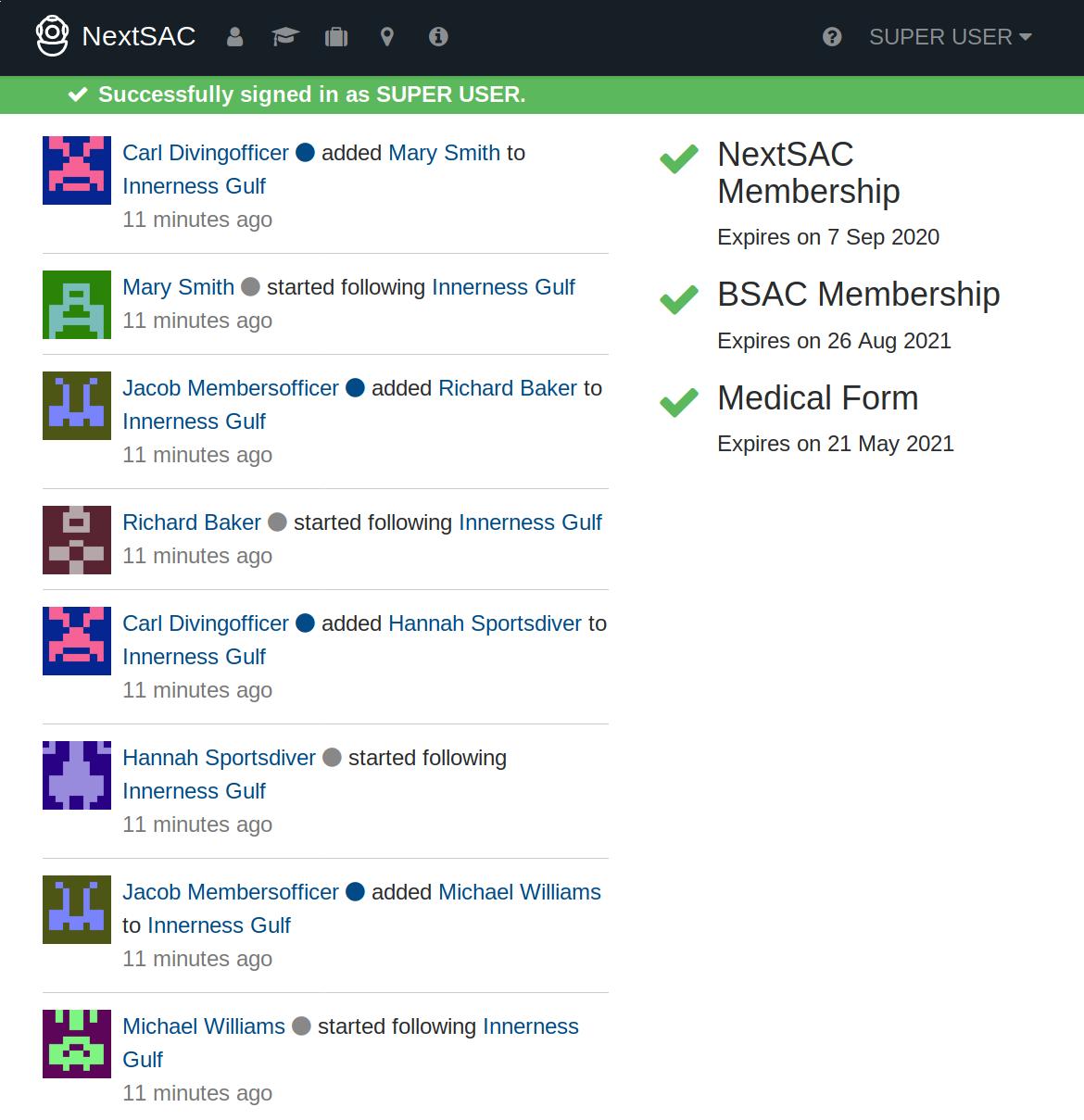 xSACdb Screenshot