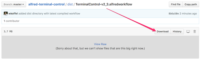 Screenshot: Download Workflow