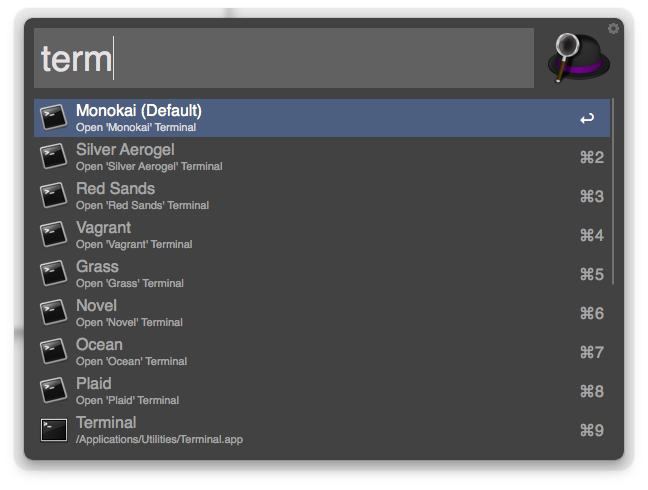 Screenshot: Launch New Terminal