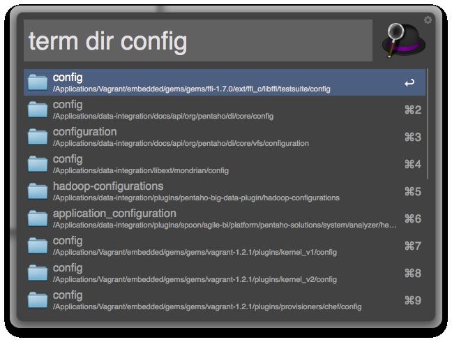 Screenshot: Launch Terminal at Directory