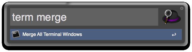 Screenshot: Merge Terminal Windows