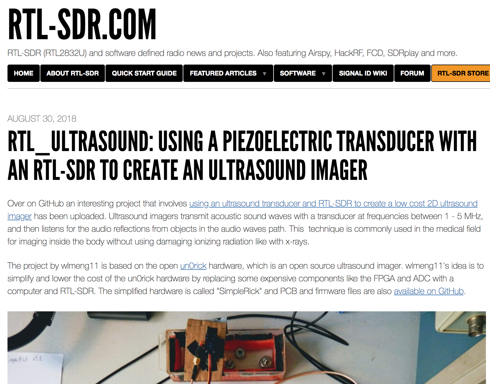 Featured on official RTL-SDR blog