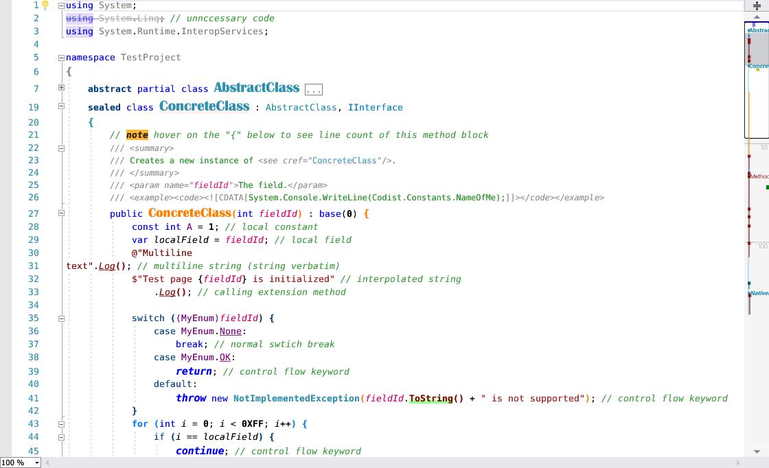 Syntax highlight
