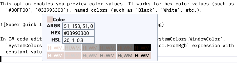 Super Quick Info - Color