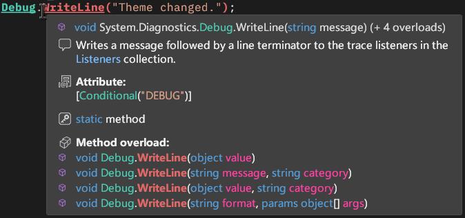 Super Quick Info - Method Overloads