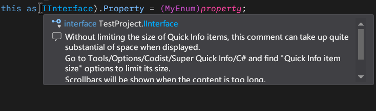 Super Quick Info - Size