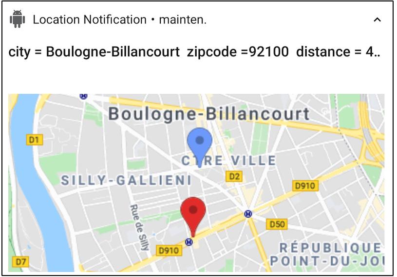 Notification Location