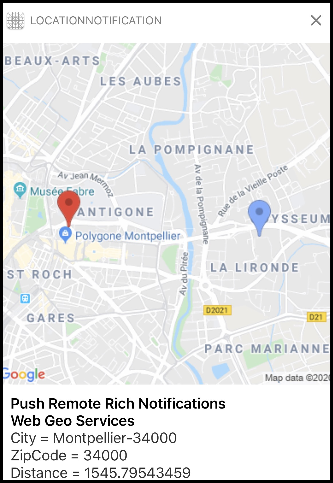 Notification Location