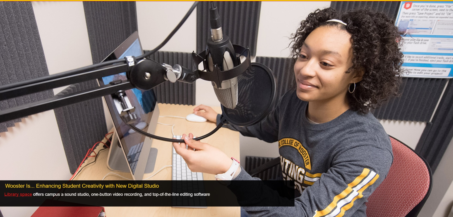 The College of Wooster's feature of the Digital Studio on their website.