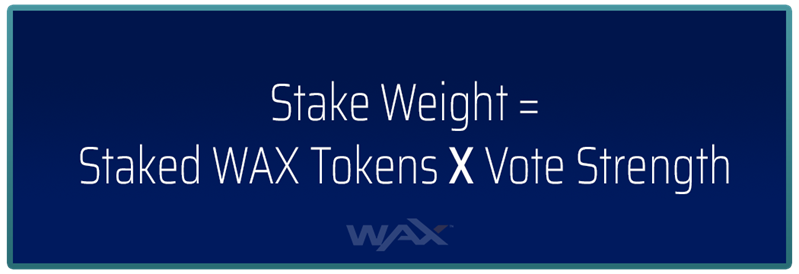 Voter's stake weight determines the amount of WAX Staking Rewards given to them
