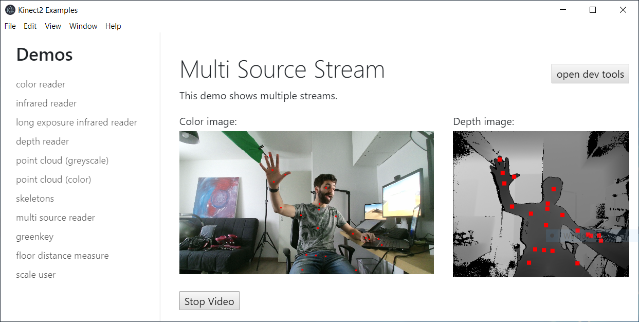 screenshot of multi stream demo